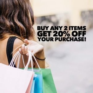🔥Buy 2 items and take 20% off of your purchase